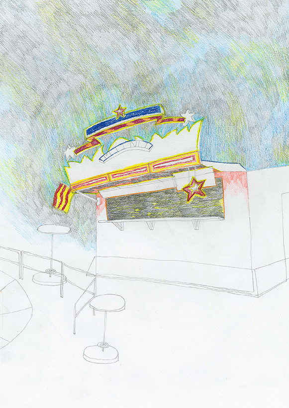 drawing 2019 teresa mayr (colored)pencil on paper